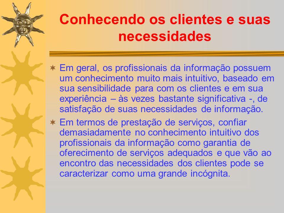 Conhecendo os clientes e suas necessidades