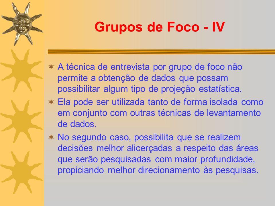 Grupos de Foco - IV