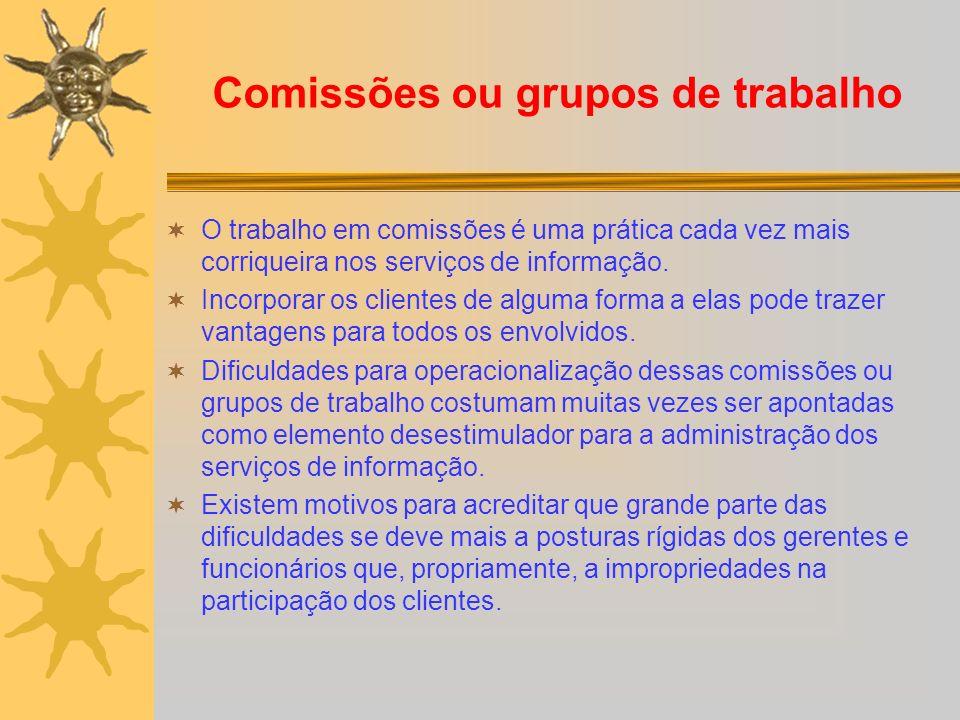 Comissões ou grupos de trabalho
