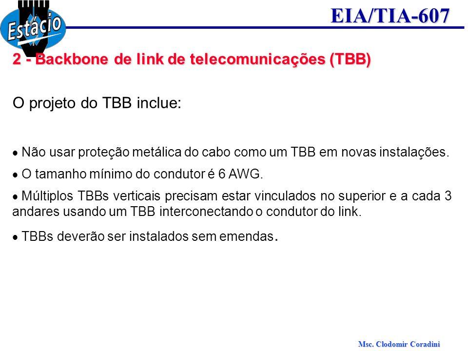 2 - Backbone de link de telecomunicações (TBB)