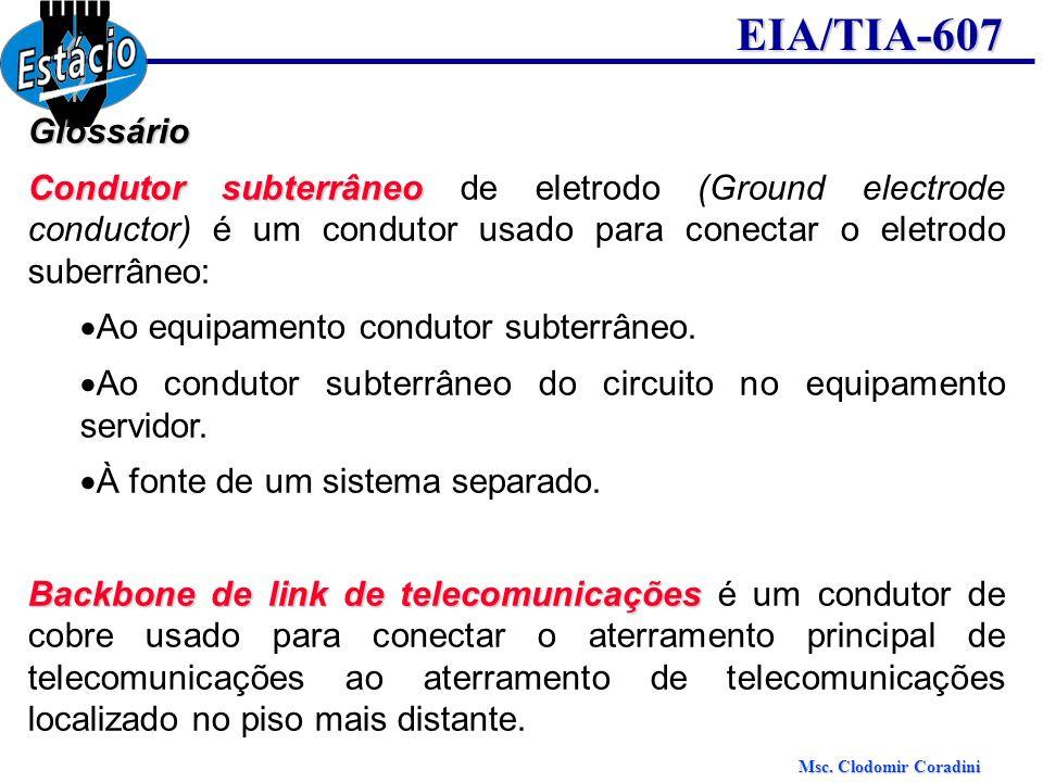 Glossário Condutor subterrâneo de eletrodo (Ground electrode conductor) é um condutor usado para conectar o eletrodo suberrâneo:
