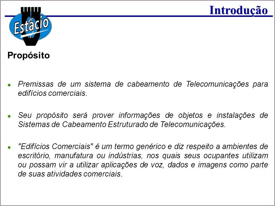 Propósito Premissas de um sistema de cabeamento de Telecomunicações para edifícios comerciais.