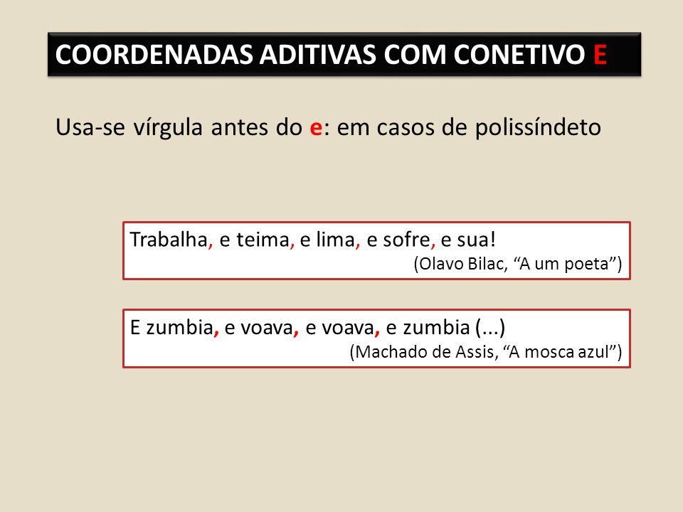 COORDENADAS ADITIVAS COM CONETIVO E