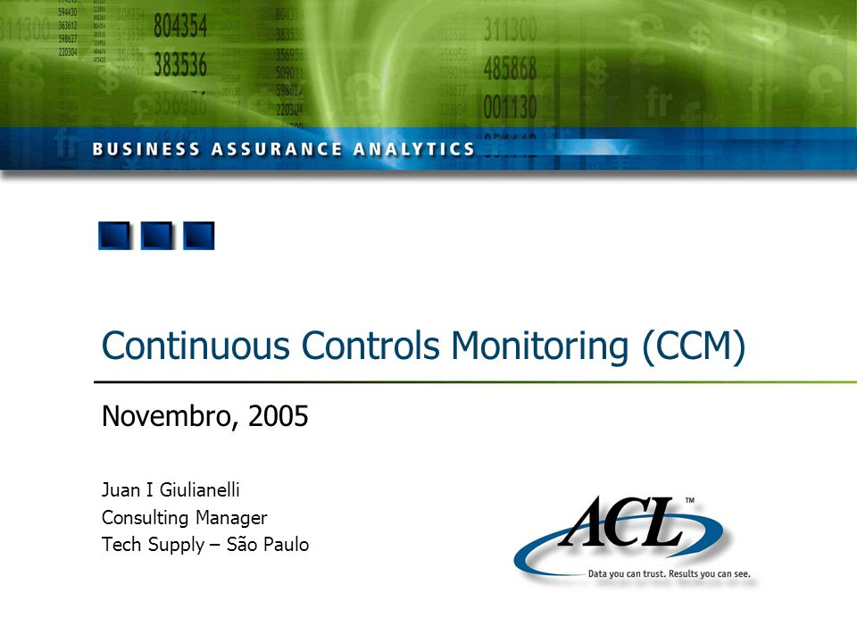 Continuous Controls Monitoring (CCM)