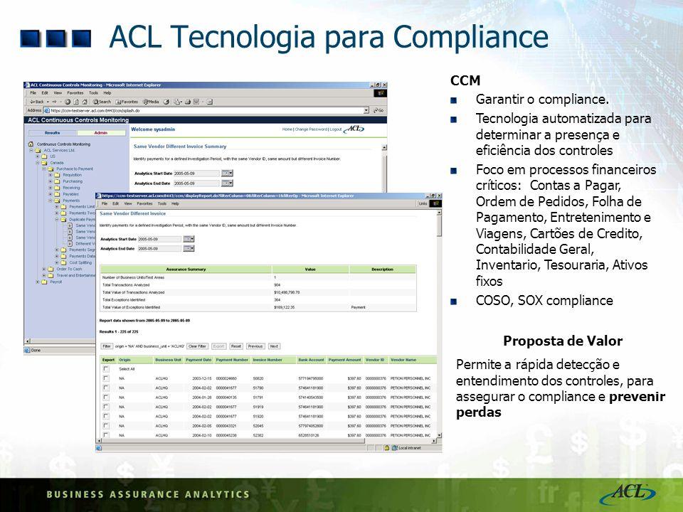 ACL Tecnologia para Compliance