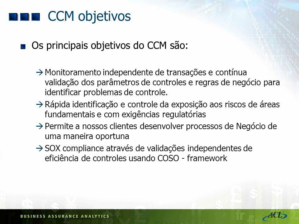 CCM objetivos Os principais objetivos do CCM são: