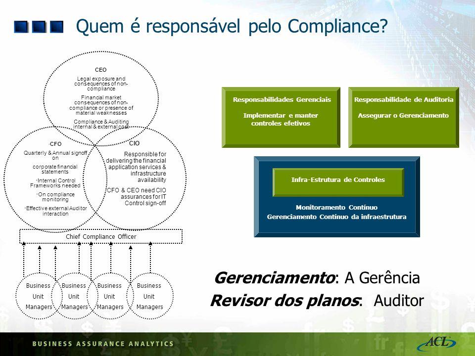 Quem é responsável pelo Compliance