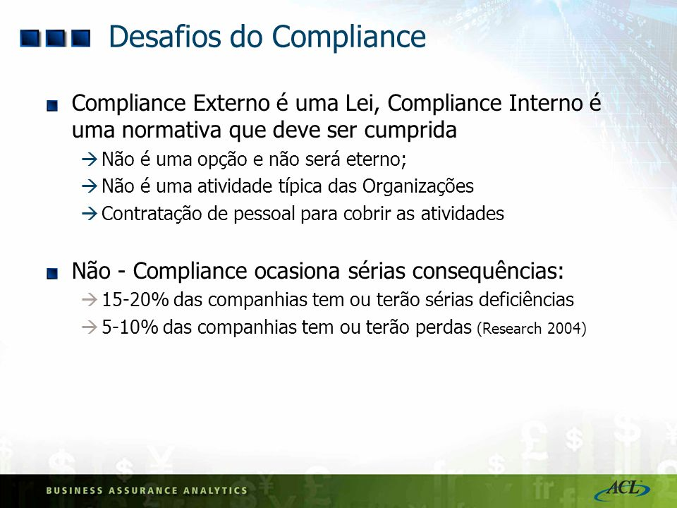 Desafios do Compliance