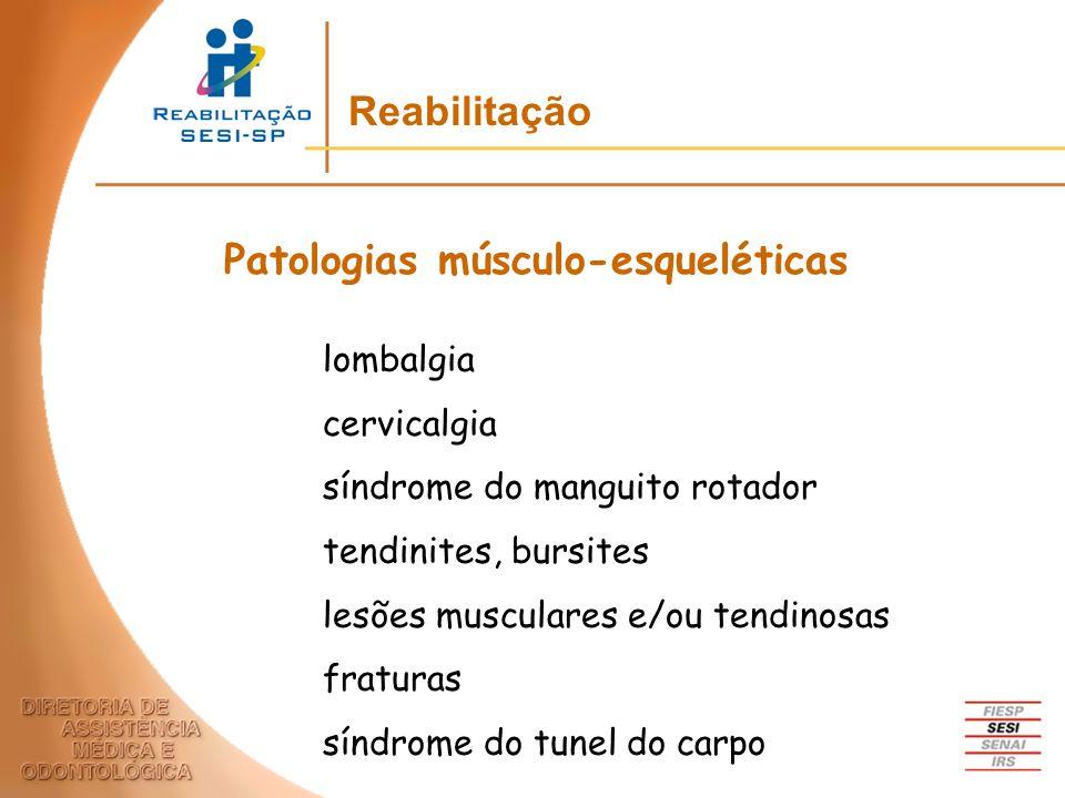 Patologias músculo-esqueléticas