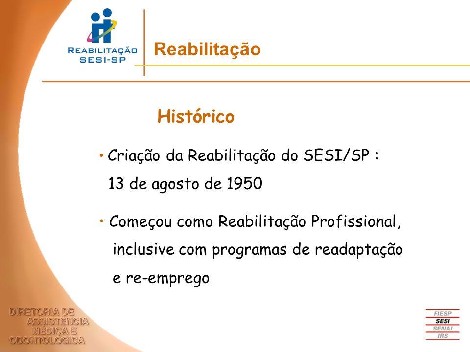 Reabilitação Histórico 13 de agosto de 1950