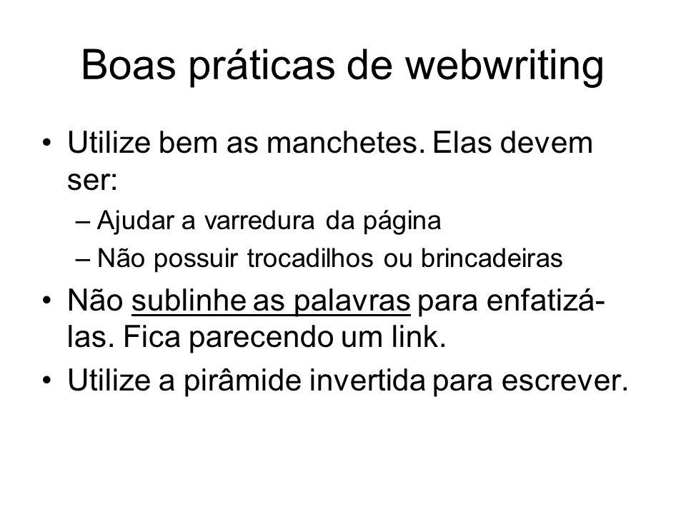 Boas práticas de webwriting