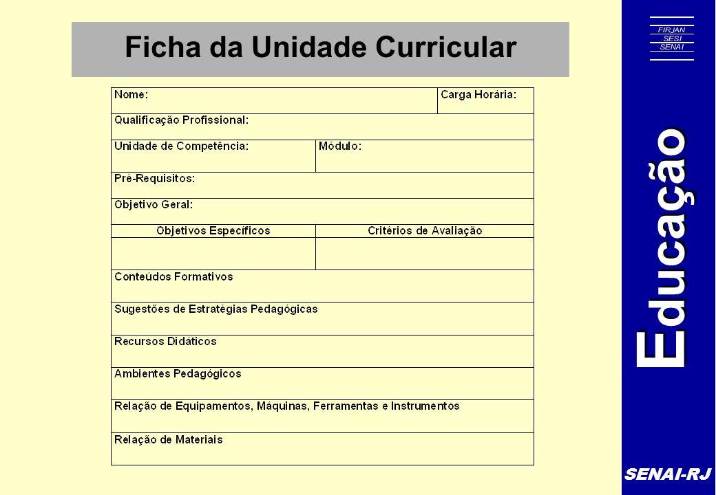 Ficha da Unidade Curricular