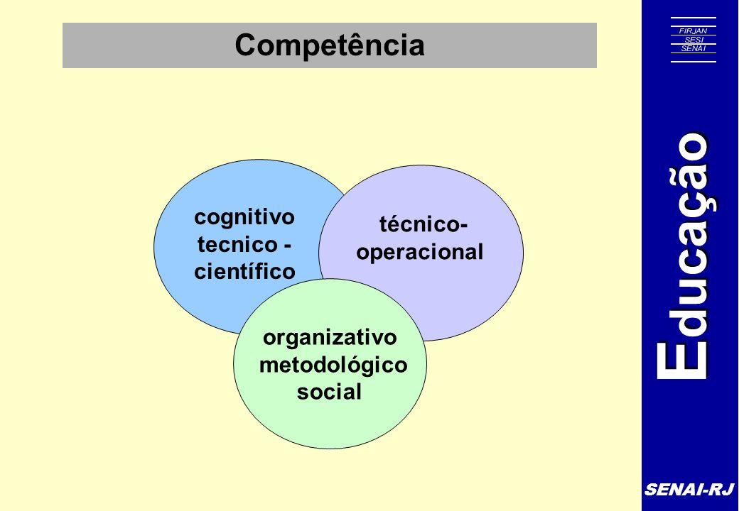 Competência técnico- operacional cognitivo tecnico -científico