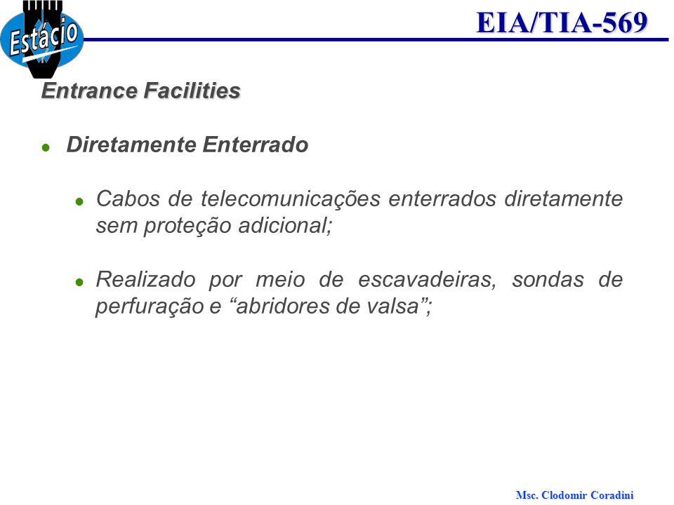 Entrance FacilitiesDiretamente Enterrado. Cabos de telecomunicações enterrados diretamente sem proteção adicional;