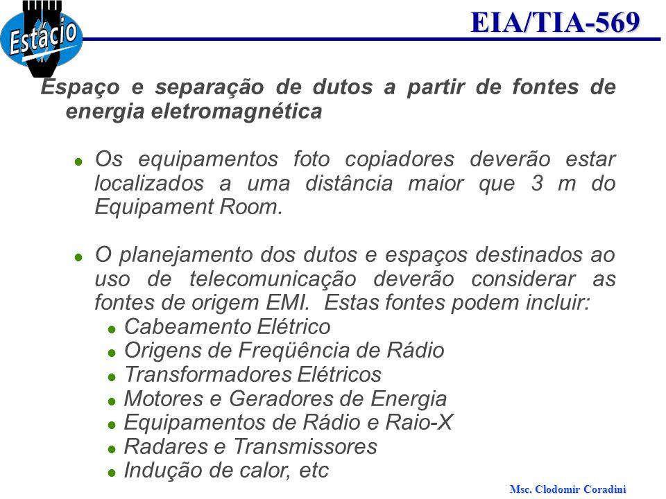 Espaço e separação de dutos a partir de fontes de energia eletromagnética