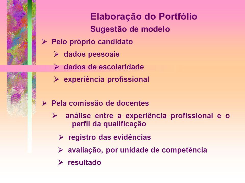 Elaboração do Portfólio Sugestão de modelo