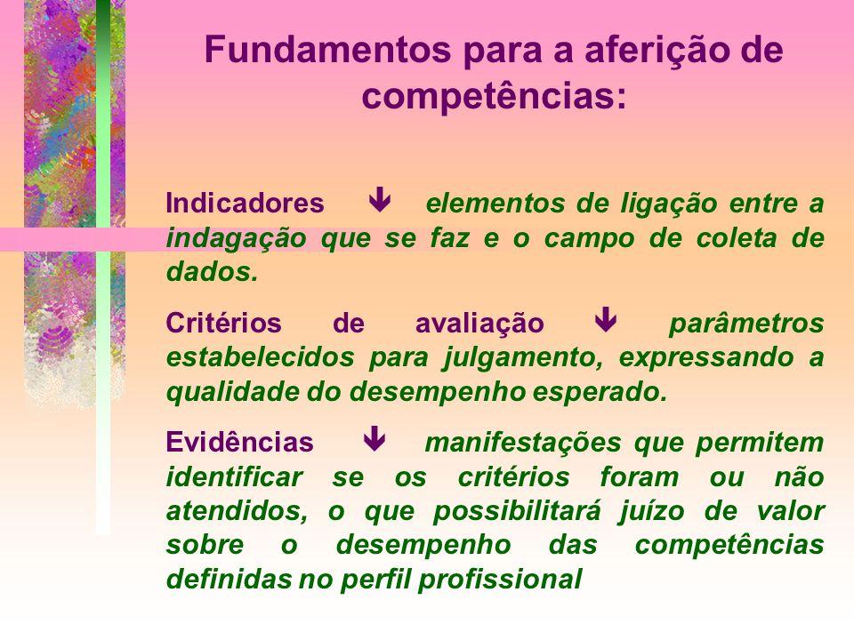 Fundamentos para a aferição de competências: