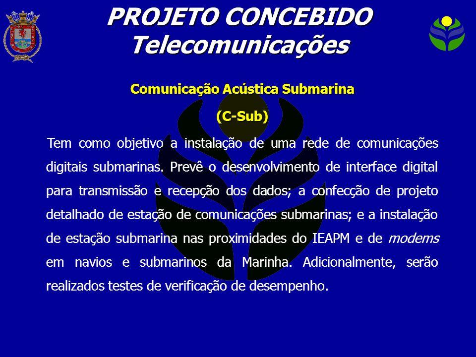 PROJETO CONCEBIDO Telecomunicações Comunicação Acústica Submarina