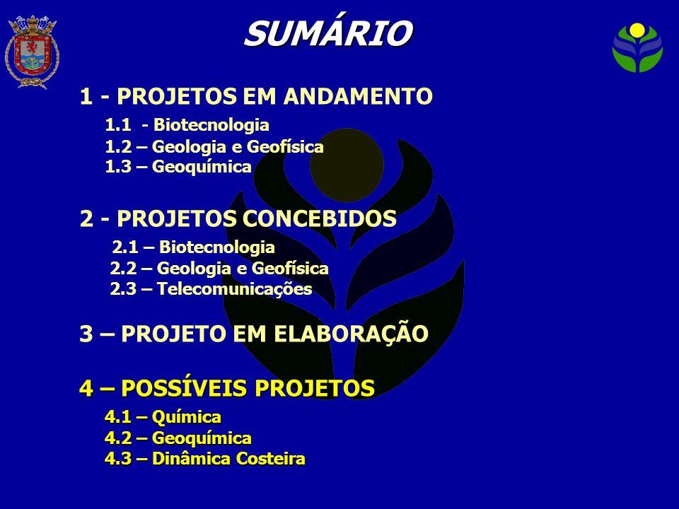 SUMÁRIO 1 - PROJETOS EM ANDAMENTO 1.1 - Biotecnologia
