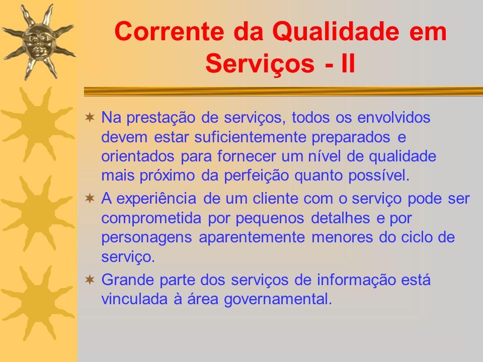 Corrente da Qualidade em Serviços - II