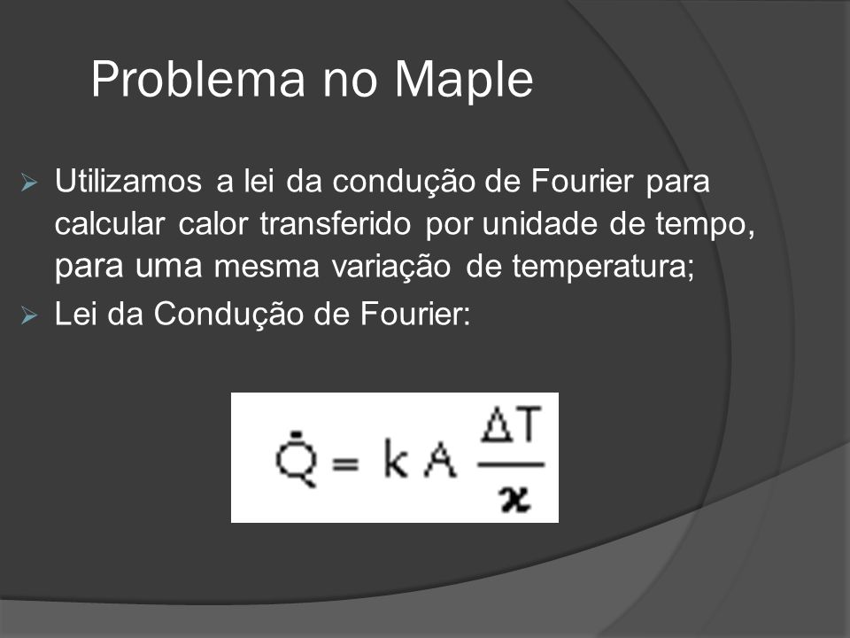Problema no Maple