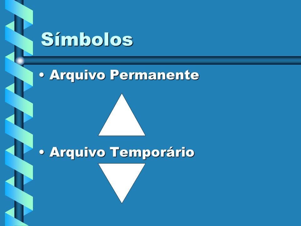 Símbolos Arquivo Permanente Arquivo Temporário