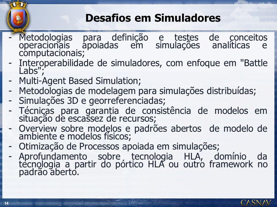 Desafios em Simuladores
