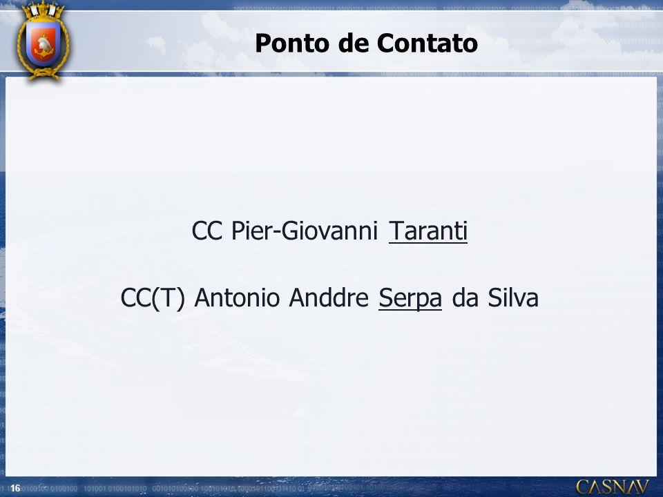 CC Pier-Giovanni Taranti CC(T) Antonio Anddre Serpa da Silva