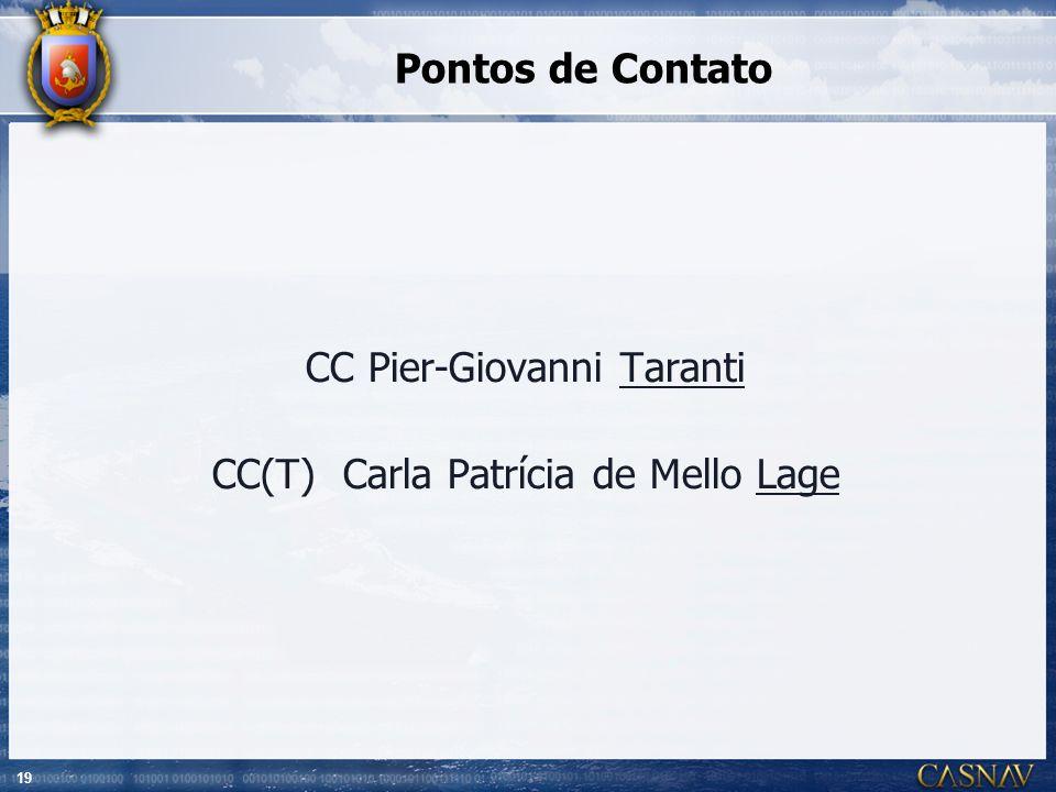 CC Pier-Giovanni Taranti CC(T) Carla Patrícia de Mello Lage