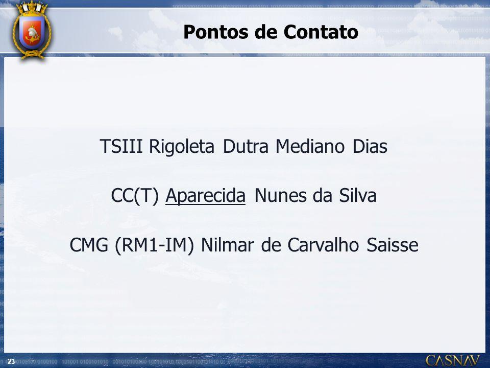TSIII Rigoleta Dutra Mediano Dias CC(T) Aparecida Nunes da Silva