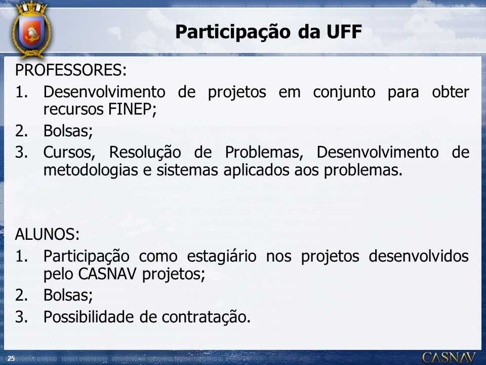 Participação da UFF PROFESSORES: