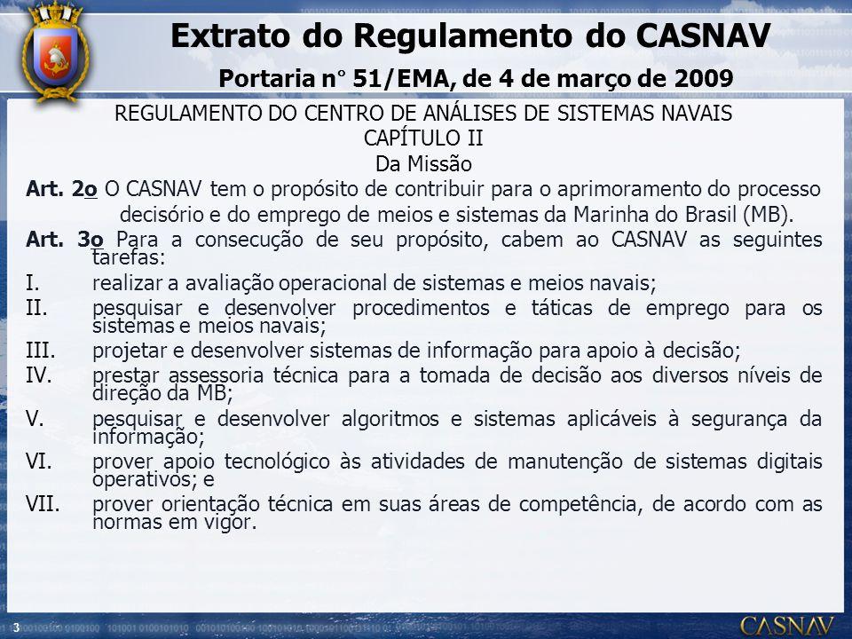 REGULAMENTO DO CENTRO DE ANÁLISES DE SISTEMAS NAVAIS