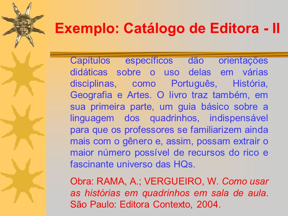 Exemplo: Catálogo de Editora - II