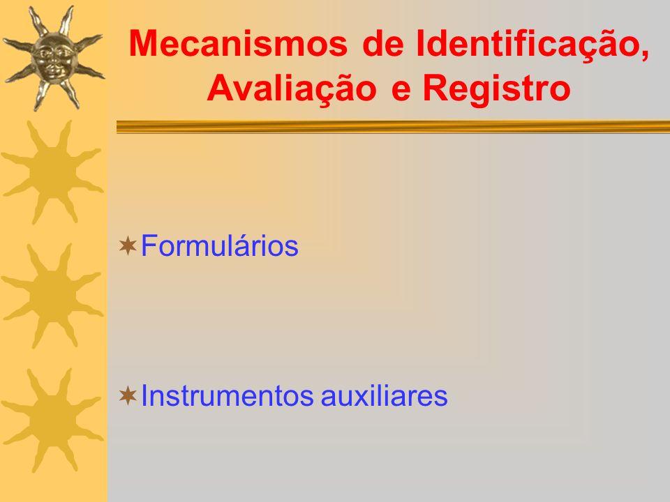 Mecanismos de Identificação, Avaliação e Registro