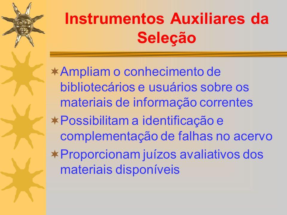 Instrumentos Auxiliares da Seleção