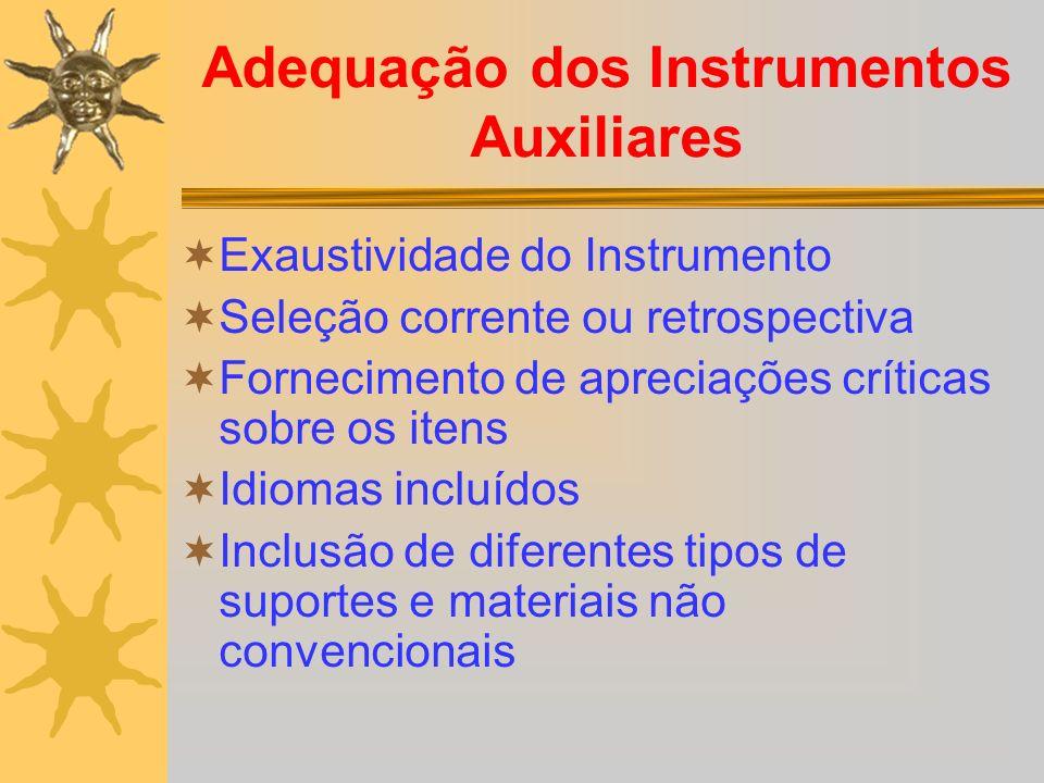 Adequação dos Instrumentos Auxiliares