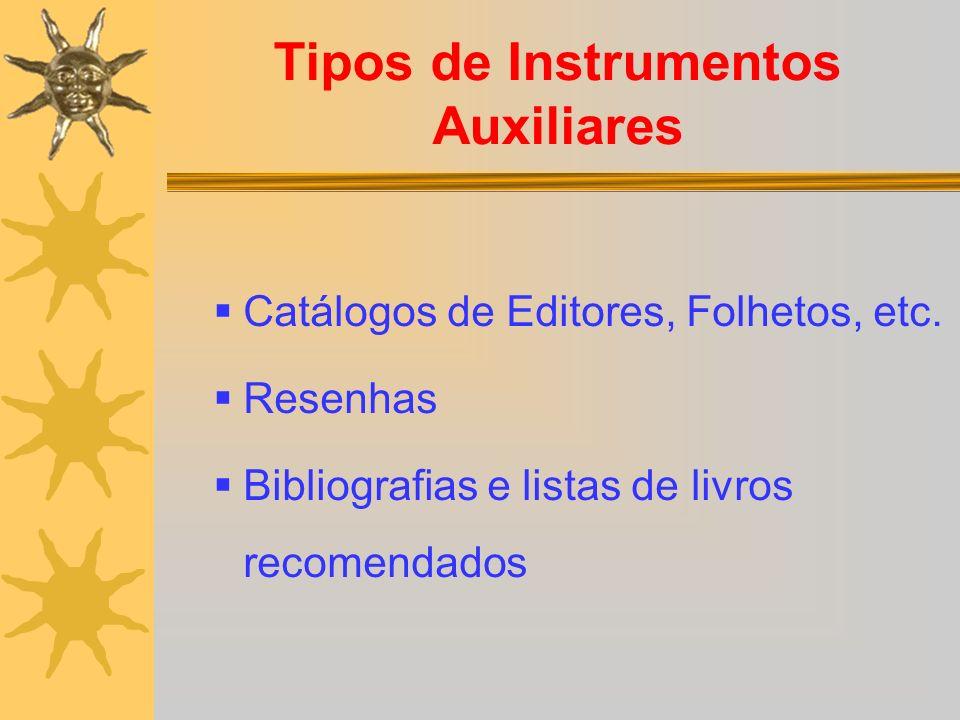 Tipos de Instrumentos Auxiliares