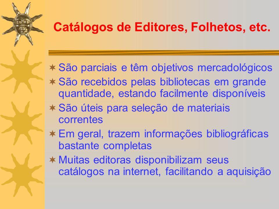 Catálogos de Editores, Folhetos, etc.