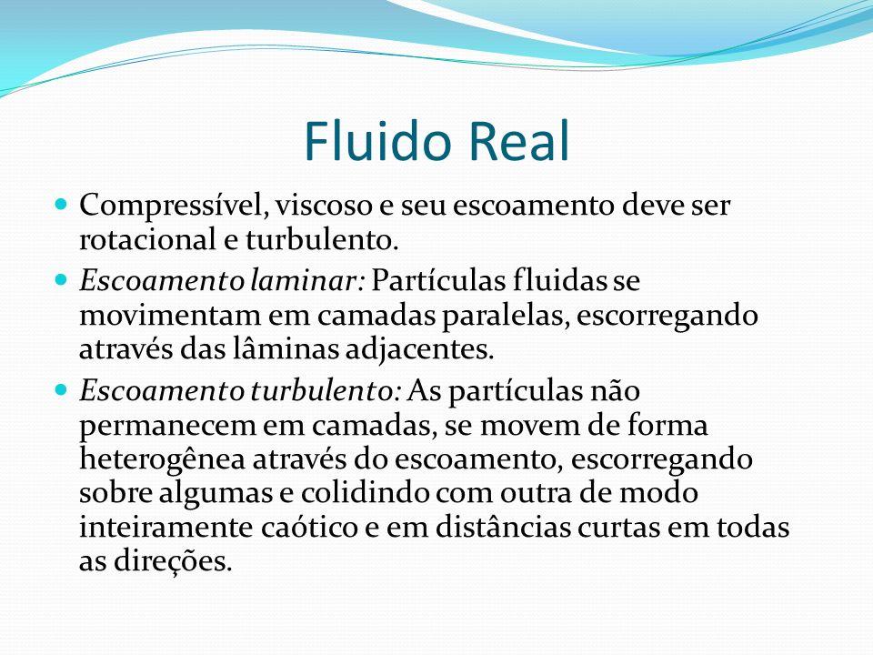 Fluido Real Compressível, viscoso e seu escoamento deve ser rotacional e turbulento.