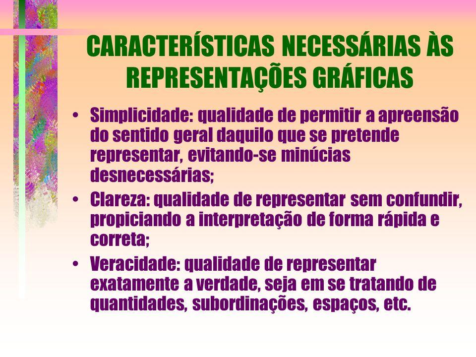 CARACTERÍSTICAS NECESSÁRIAS ÀS REPRESENTAÇÕES GRÁFICAS