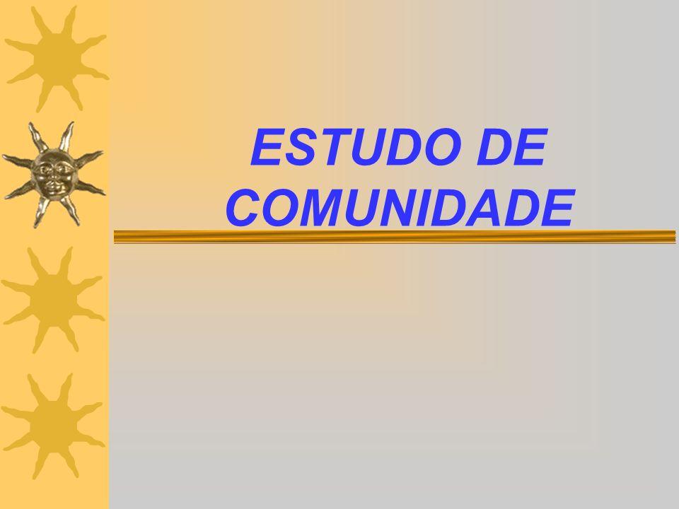 ESTUDO DE COMUNIDADE