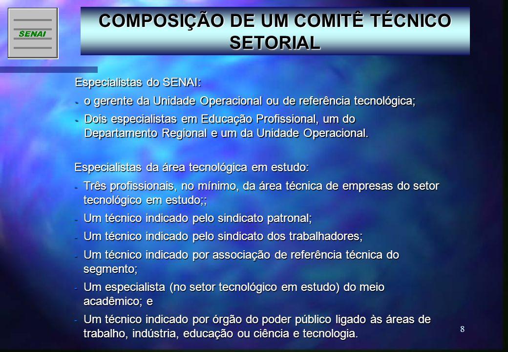 COMPOSIÇÃO DE UM COMITÊ TÉCNICO SETORIAL