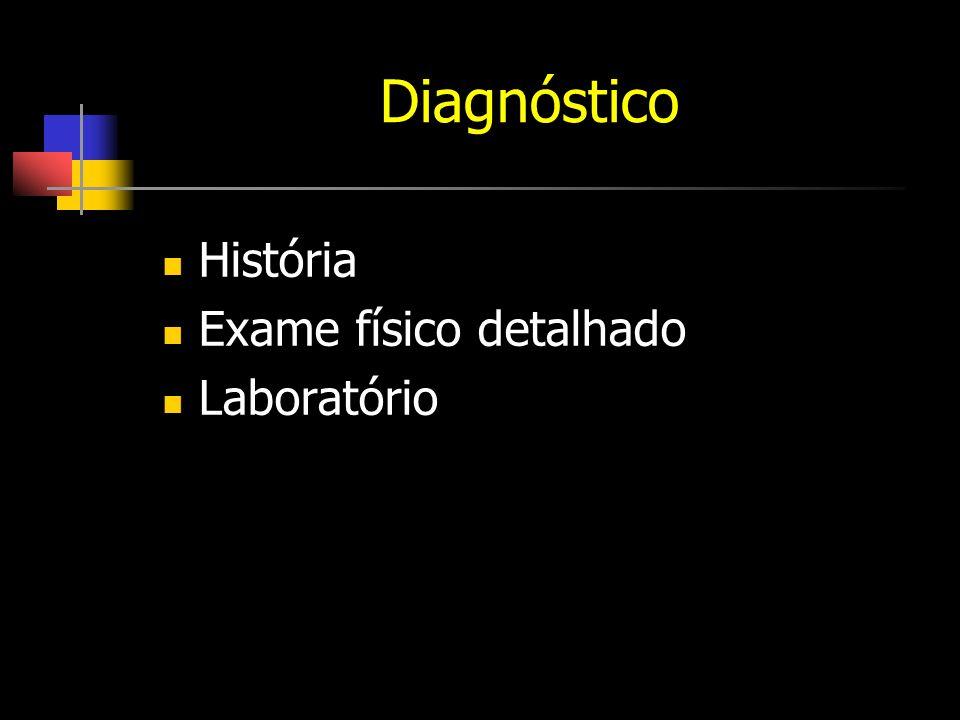 Diagnóstico História Exame físico detalhado Laboratório