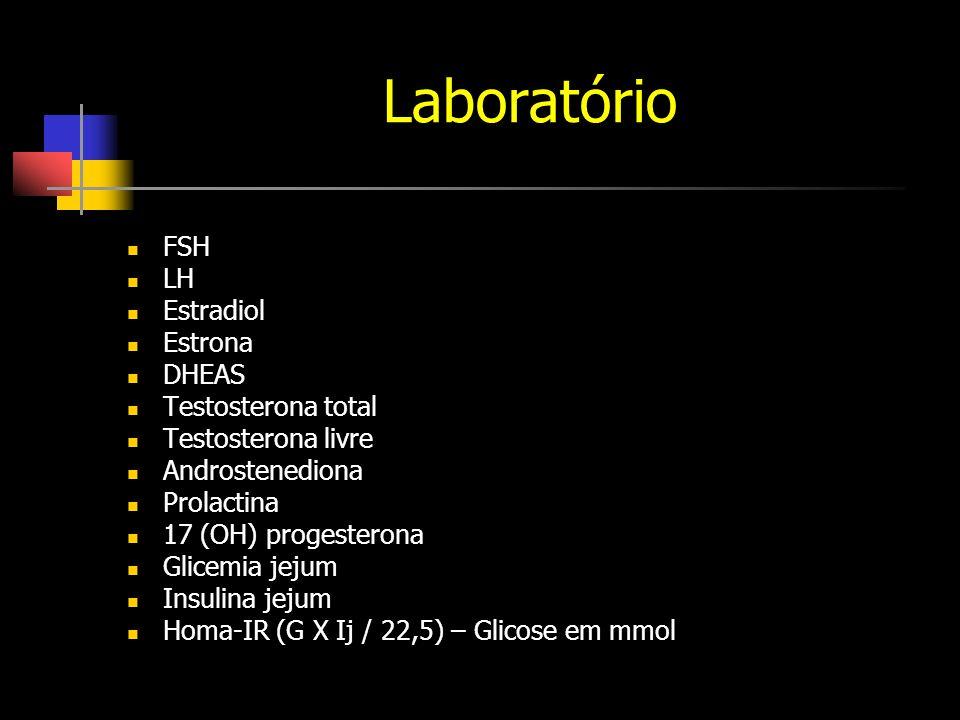Laboratório FSH LH Estradiol Estrona DHEAS Testosterona total