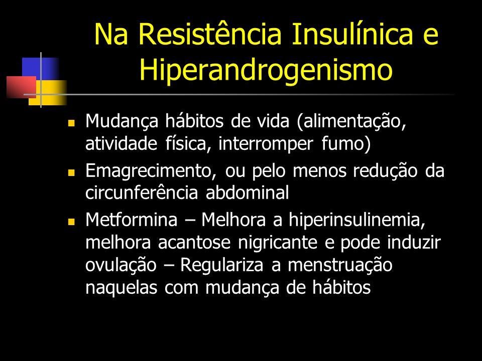 Na Resistência Insulínica e Hiperandrogenismo