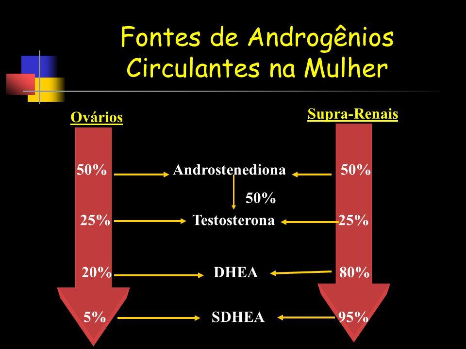 Fontes de Androgênios Circulantes na Mulher