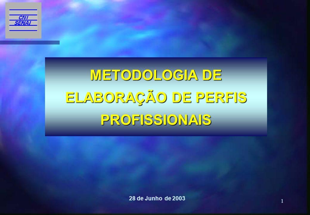 METODOLOGIA DE ELABORAÇÃO DE PERFIS PROFISSIONAIS