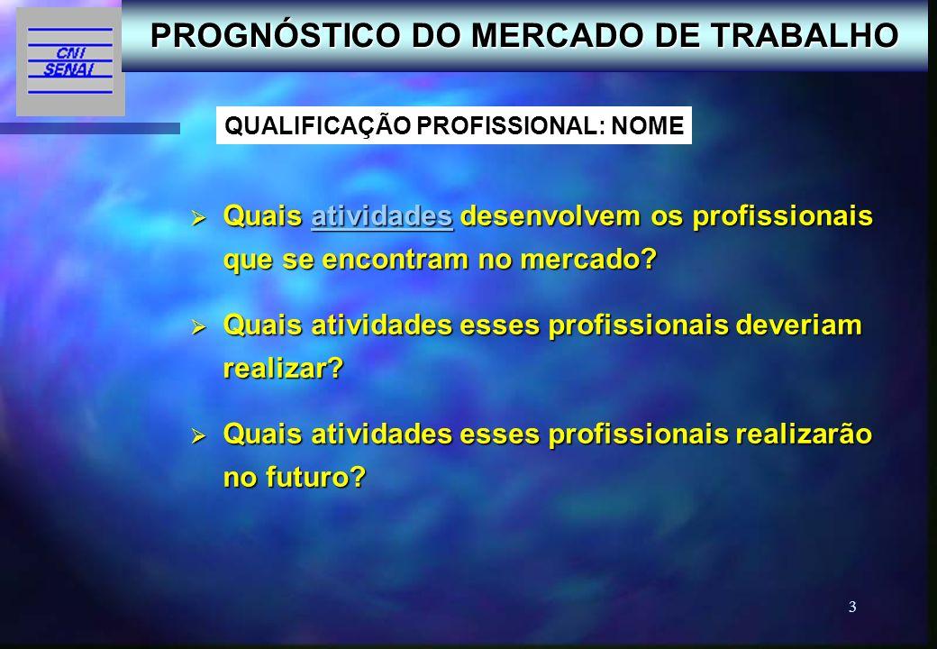 PROGNÓSTICO DO MERCADO DE TRABALHO QUALIFICAÇÃO PROFISSIONAL: NOME