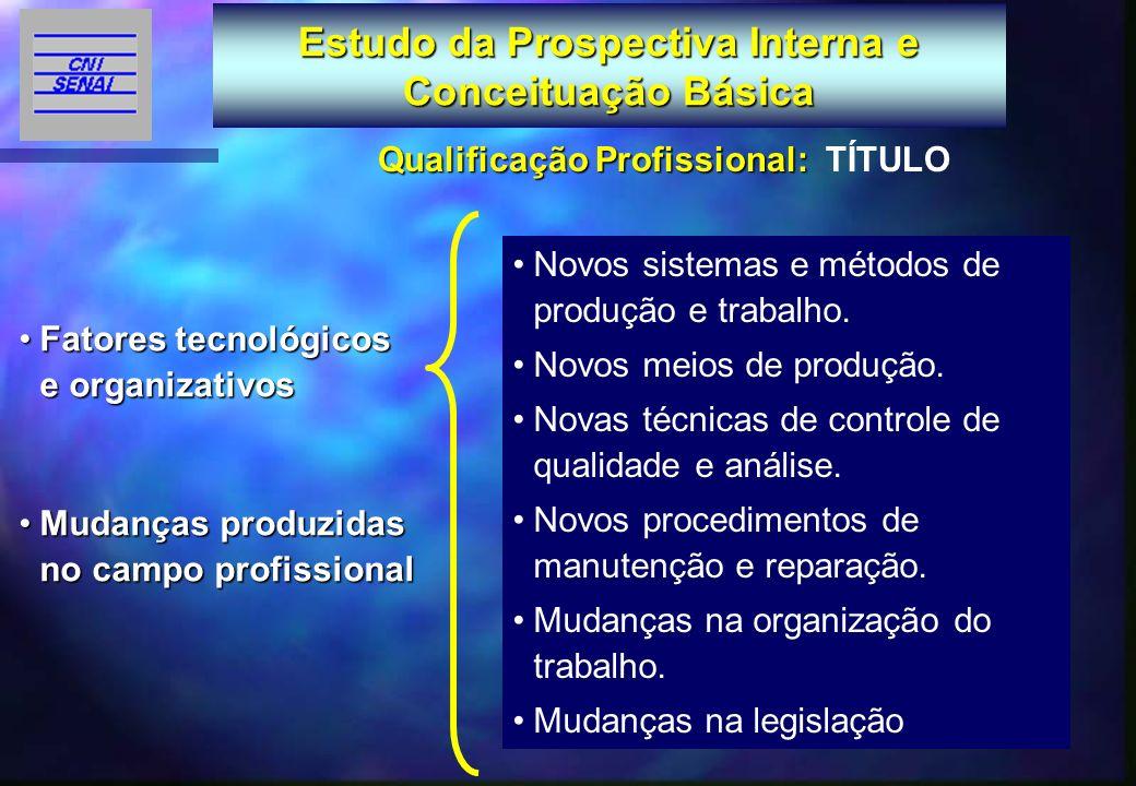 Estudo da Prospectiva Interna e Conceituação Básica