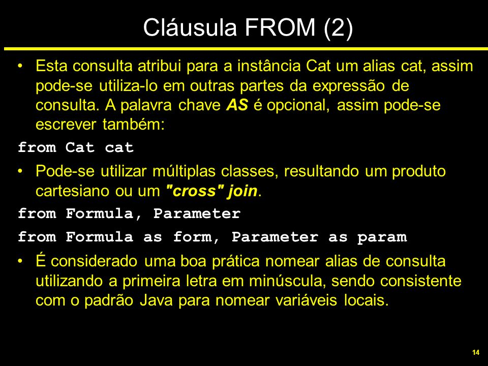 Cláusula FROM (2)